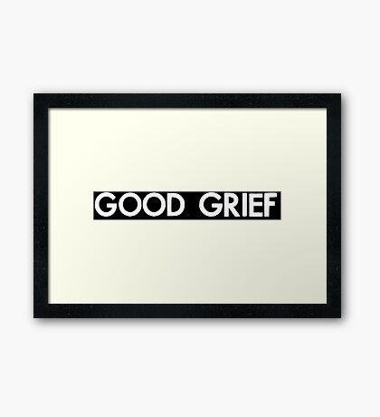 good grief (white) Framed Print