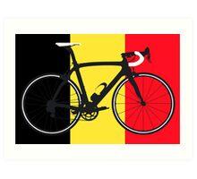 Bike Flag Belgium (Big - Highlight) Art Print