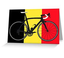 Bike Flag Belgium (Big - Highlight) Greeting Card