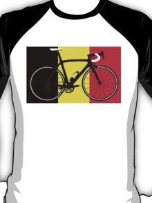 Bike Flag Belgium (Big - Highlight) T-Shirt