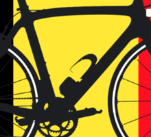 Bike Flag Belgium (Big - Highlight) Sticker