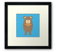 Brown Bear with pie Framed Print