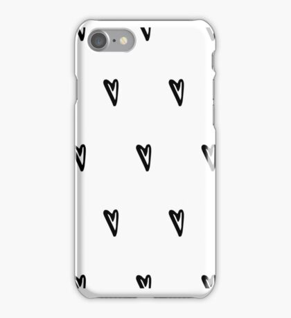 Hand drawn hearts set iPhone Case/Skin