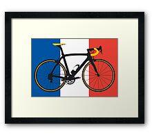 Bike Flag France (Big - Highlight) Framed Print