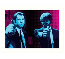 Vincent and Jules - Pulp Fiction (Variant 1 of 2) Art Print