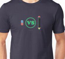 Pencil vs eraser Unisex T-Shirt