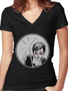 Rainy Gotham Women's Fitted V-Neck T-Shirt