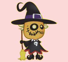 Halloween pumpkin witch Kids Tee