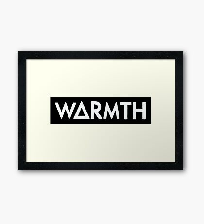 warmth (white) Framed Print