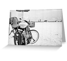 Bicycles at the Beach Greeting Card