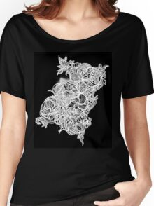 Zen Doodle 4 Black White Glow Women's Relaxed Fit T-Shirt