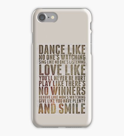 Happy life motivational quote iPhone Case/Skin