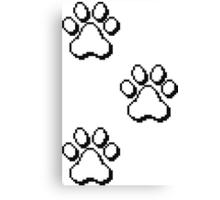 Pixel paw pads! Canvas Print