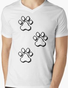 Pixel paw pads! Mens V-Neck T-Shirt