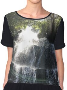 Waterfall Landscape Chiffon Top