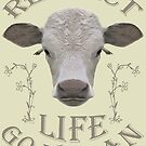 RESPECT LIFE - GO VEGAN by fuxart