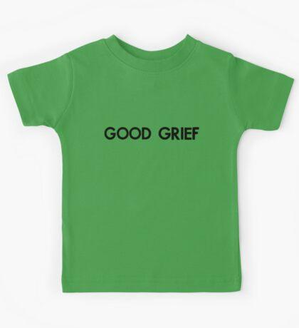 good grief (black) Kids Tee