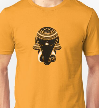Vector Ethnic elephant. Hamsa hand and the elephant image. Unisex T-Shirt