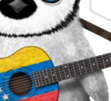Baby Penguin Playing Venezuelan Flag Guitar Sticker