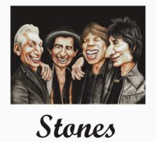 Old Rockers - Gimme Shelter t-shirt by Margaret Sanderson