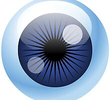 Crazy Blue Eyeball by Fitzillo
