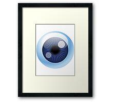 Crazy Blue Eyeball Framed Print