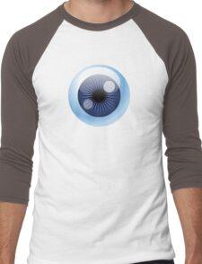 Crazy Blue Eyeball Men's Baseball ¾ T-Shirt