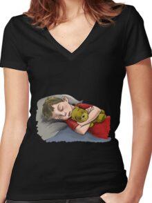 Naptime Women's Fitted V-Neck T-Shirt