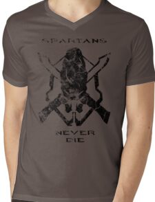 Spartans Never Die Mens V-Neck T-Shirt
