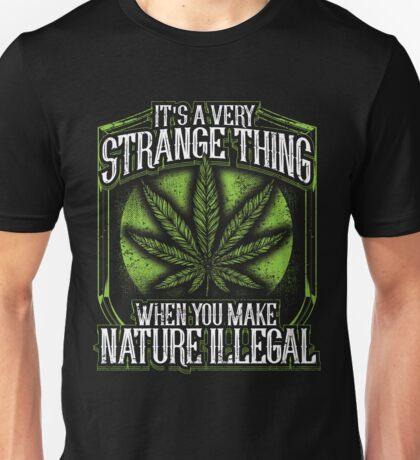 Natural Marijuana Legalize Mary Jane T Shirts Unisex T-Shirt