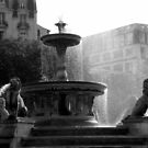 Fountain spray b/w by bubblehex08