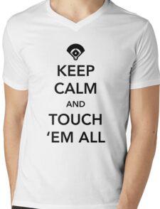 Keep calm and touch 'em all Mens V-Neck T-Shirt