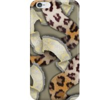 Leopards'n Lace - Yellow iPhone Case/Skin