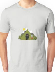 Grizzly Bear Camping Unisex T-Shirt
