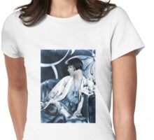 Louise Brooks in Blue and White Womens Fitted T-Shirt