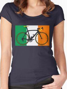 Bike Flag Ireland (Big - Highlight) Women's Fitted Scoop T-Shirt