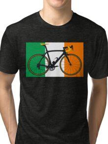 Bike Flag Ireland (Big - Highlight) Tri-blend T-Shirt