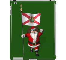 Santa Claus With Flag Of Florida iPad Case/Skin
