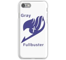 <FAIRY TAIL> Gray Fullbuster Fairy Tail Logo iPhone Case/Skin