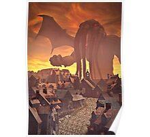 Cthulhu Sunset Poster