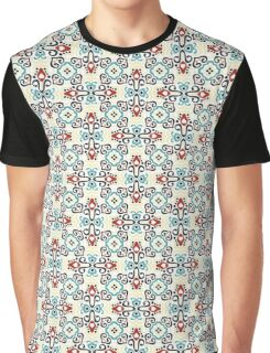 Bright Weave Pattern Graphic T-Shirt