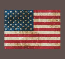 Vintage Aged and Scratched American Flag Kids Clothes