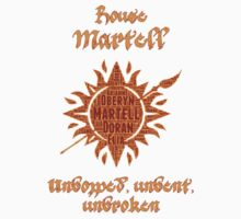 House Martell, Game of Thrones by ZsaMo