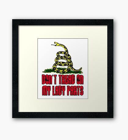 Don't Tread on My Lady Parts! Framed Print