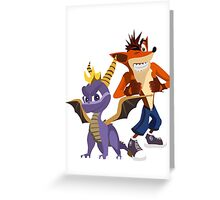 Orange & Purple Greeting Card
