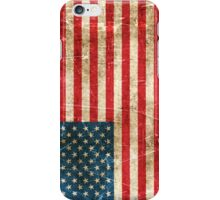 Vintage Aged and Scratched American Flag iPhone Case/Skin