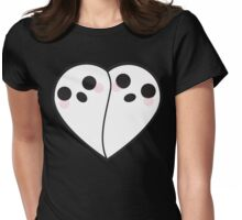 Rotten Dollies - White Ghosty Heart Womens Fitted T-Shirt
