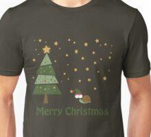 Snail Christmas Scene Unisex T-Shirt
