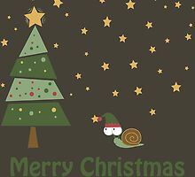 Snail Christmas Scene by Eggtooth