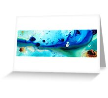 Abstract Seascape Art - Making Waves - Sharon Cummings Greeting Card